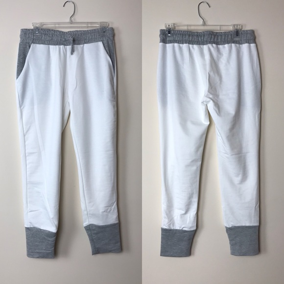 Pants - White and gray joggers inseam 26